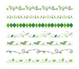 Grün floral Teiler Vektor-Set