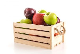 Grüne und rote Äpfel