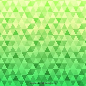 Grünes Muster mit Dreiecken