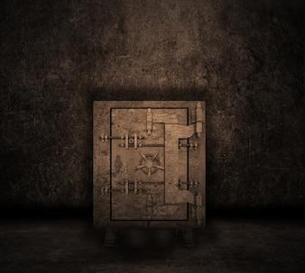 Grunge-Stil Bild eines Rauminnenraum mit Safe