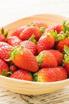 Gruppe von Erdbeeren oder Erdbeeren Obst
