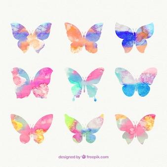 Hand gemalte Schmetterlinge