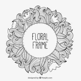 Hand gezeichnet floral frame