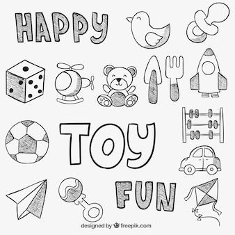 Hand gezeichnet Spielzeug