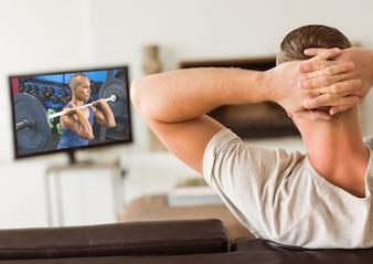 Heben Gewichtheber Freizeit gesunden Lebensstil Inhalt