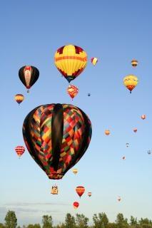 Heißluftballons frei