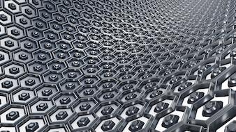 Hexagons mit Sechsecken innerhalb