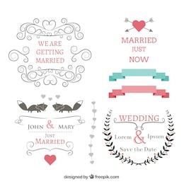 Hochzeit Banner gesetzt
