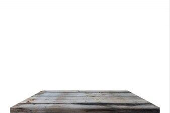 Holztischplatte oder Regal auf Isolat