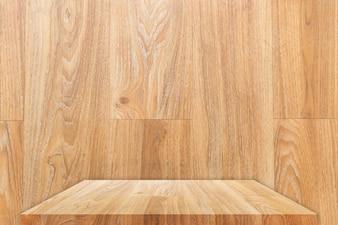 Holztischplatte oder Regal mit Hintergrund