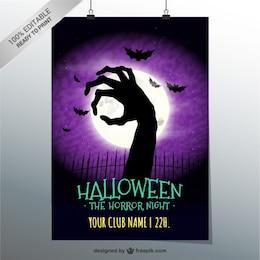Horror-Nacht-Party-Plakat