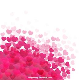 Hot rosa Herzen Hintergrund