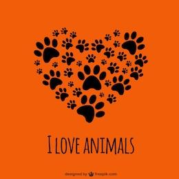 Ich liebe Tiere Vorlage