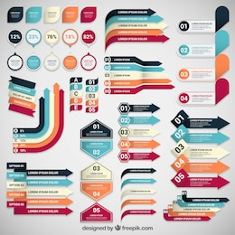 Infografik Banner Sammlung
