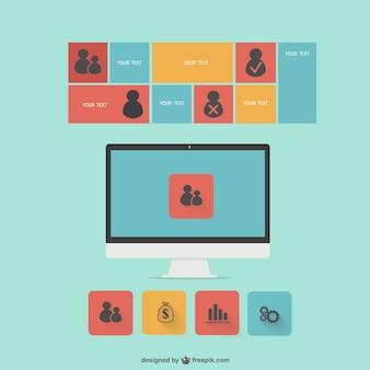 Infografik flachen Monitor-Vorlage