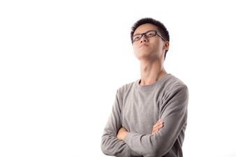 Jugendliche posieren Mode-Mann