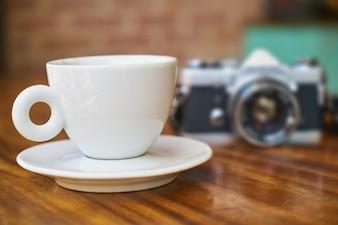Kamera und Kaffee