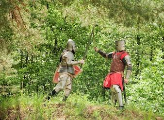 Kämpfende Ritter