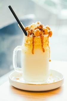 Karamellmilch schütteln Glas