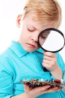 Kind Kindheit Schema interessiert technische