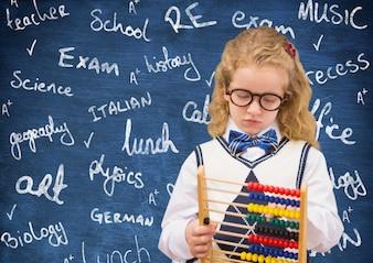 Klassenzimmer Krawatte leer akademischen Abakus