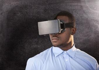Kommunikation schwarzer Hintergrund grau Tafel Beobachtung