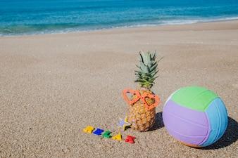 Komponierte Anordnung am Strand