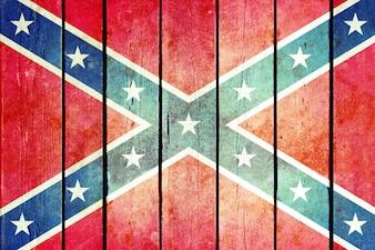 Konföderierte hölzerne Grunge-Flagge.