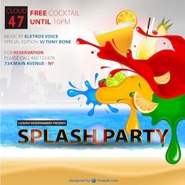 Kostenlos cockteils Sommerfest Vektor Poster