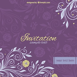 Kostenlos floral vector Hochzeitseinladung