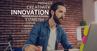 Kreativen Beruf Unternehmen Laptop Mauer