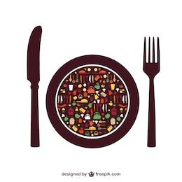 Lebensmittelvektorelemente freie Menüs
