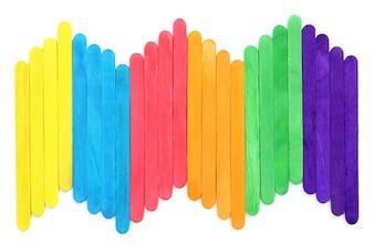 Leere bunte Holz-Eis-Stick