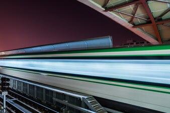 Leere Eisenbahnplattform