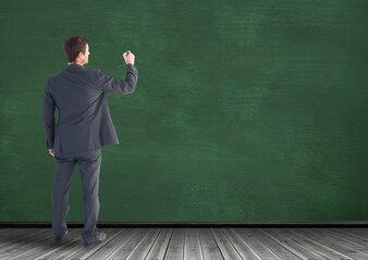 Leere Kopie Raum transparent Expertise männlich