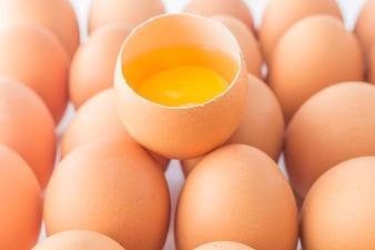 Leichte Farm roh essen Eierschale Hause