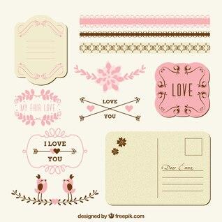 Liebe Dekoration für Post