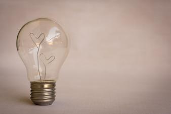 Liebe Herzen in Licht Blub