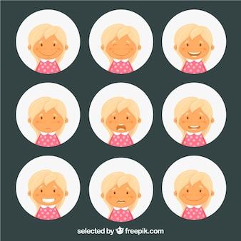 Mädchen Stimmung illustration