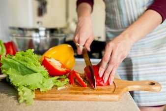 Mahlzeit Salat Ernährung Frühstück geschnitten