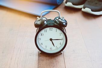 Management weißer Timer antik eine Uhr
