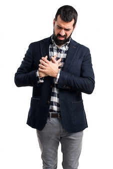 Mann mit Herzschmerzen