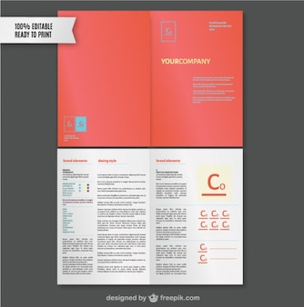 Marke Style-Guide-Vorlage