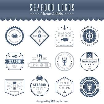 Meeresfrüchte Logos