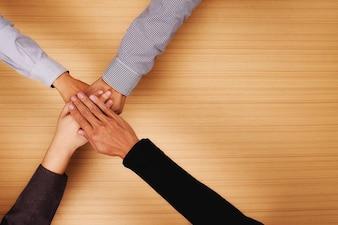 Menschen Vielfalt Vielfalt Treffen Jubel bunt
