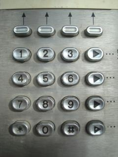 Metall-Telefon Wähltastatur