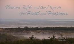 misty sunrise inspirierend