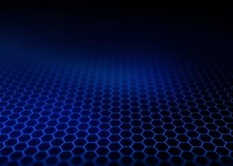 Moderner Hintergrund mit Hexagon-Gitter in die Ferne verblassen