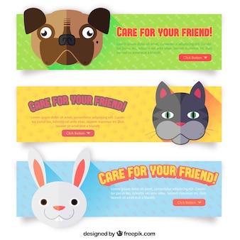 Netter Banner mit Tieren