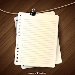 Notebook-Seite Vektor-Design